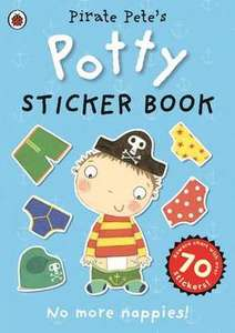 Pirate Pete Potty Training Sticker Book from the BookPeople (Free Delivery)