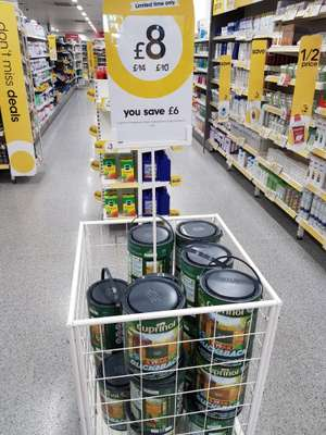 Cuprinol ducksback paint 5L (various colours) instore at Wilko for £8