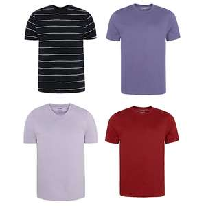 Tops 2 for £5.00 Crew/V-Neck Various Colours @ George Asda