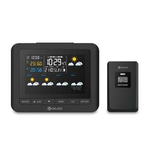 Digoo DG-TH8805 Wireless Five Day Forcast Version Weather Station (colour) with ext sensor @ Banggood 34% off £18.00