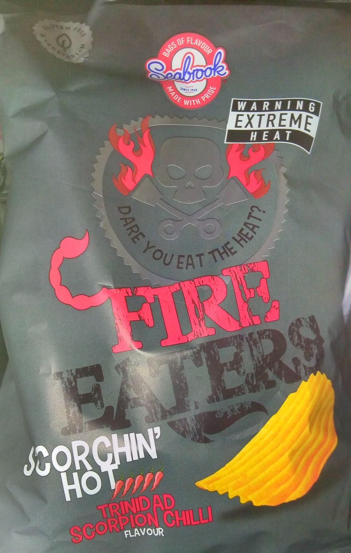 Hot crisps! Seabrooks Trinidad scorpion chilli crisps 99p instore at Home Bargains