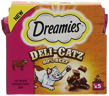 Dreamies Deli-Catz - 15p in Poundstretchers (5 packs snack sachets)