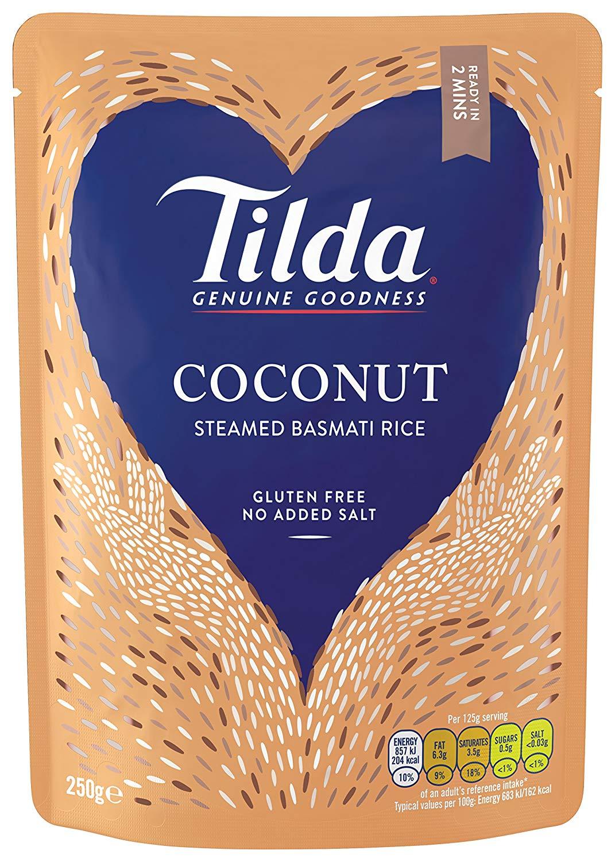 Tilda Steamed Basmati Coconut 250 g Pack of 6 @ Amazon Add On £4.74