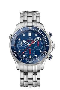 Omega Seamaster Diver Chronograph men's blue dial stainless steel bracelet watch £2970 at Fraser Hart with code