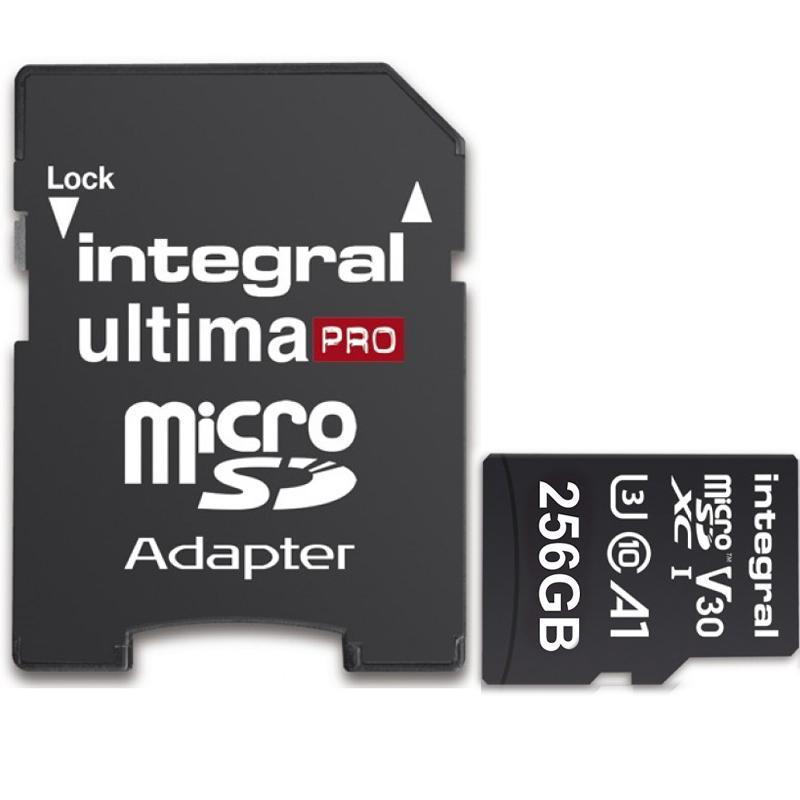 Integral 256GB UltimaPRO V30 Premium Micro SD Card (SDXC) UHS-I U3 + Adapter - 100MB/s £24.98 @ Mymemory