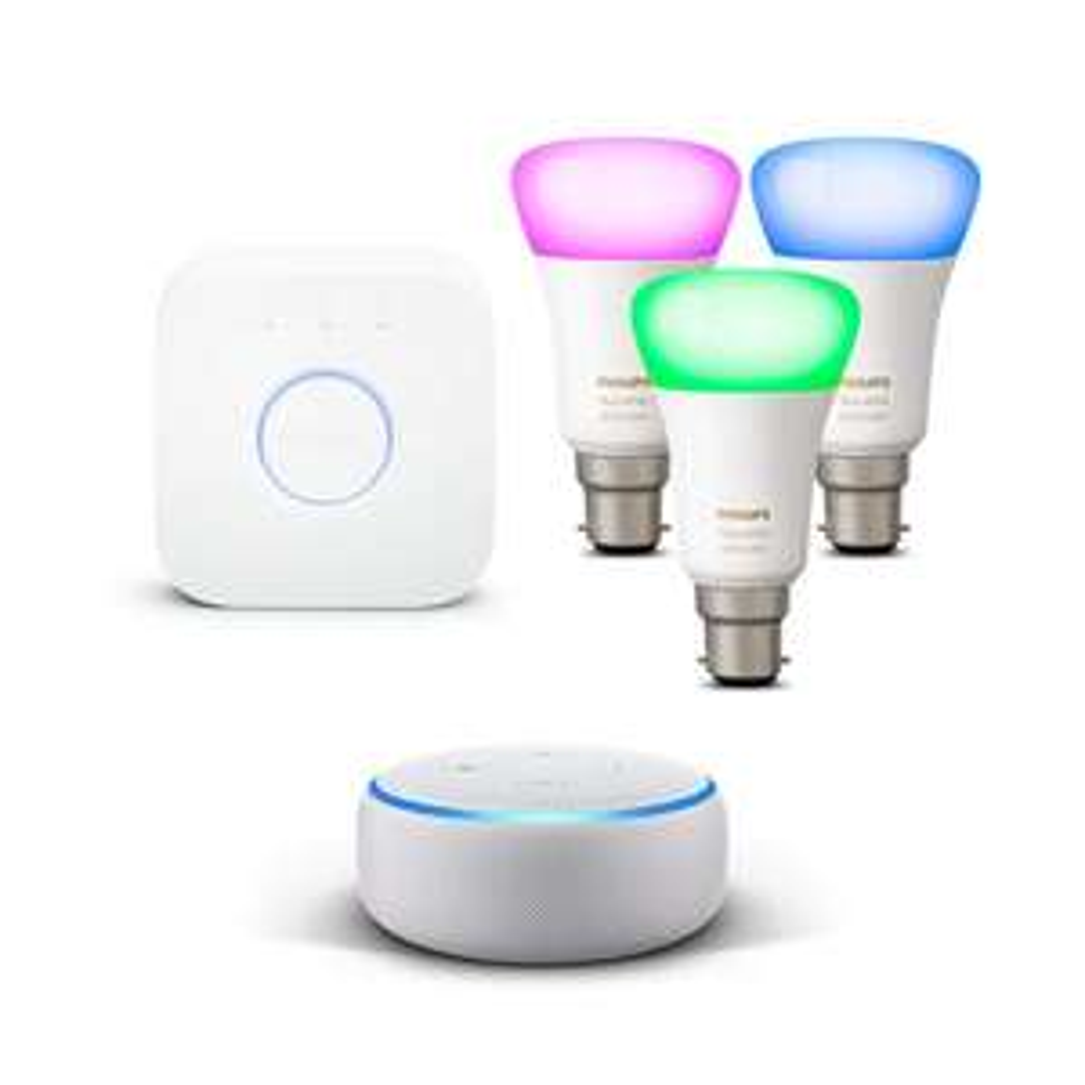 Echo Dot (3rd Gen) + Philips Hue Starter Kit - £109.99 @ Amazon