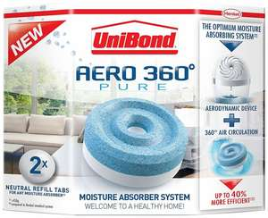 Unibond Aero 360 Dehumidifier Twin Pack Refills - £3 at Wickes