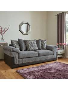 Phoenix Fabric And Faux Leather 3 Seater + 2 Seater Sofa Set - £619 @ Very (+£14.99 P&P)