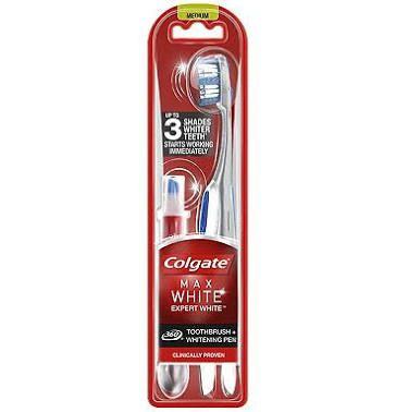 Colgate Max White Expert Toothbrush & Whitening Pen now £3 Was £12 @ Tesco