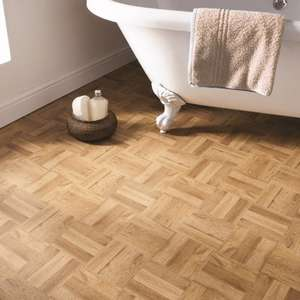 Better than 1/2 Price : X11 Self Adhesive Floor Tiles Wooden Effect Now £2 @ B&M