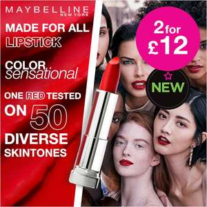 Save up to 60% - 2 for £12 on selected Maybelline @ Superdrug