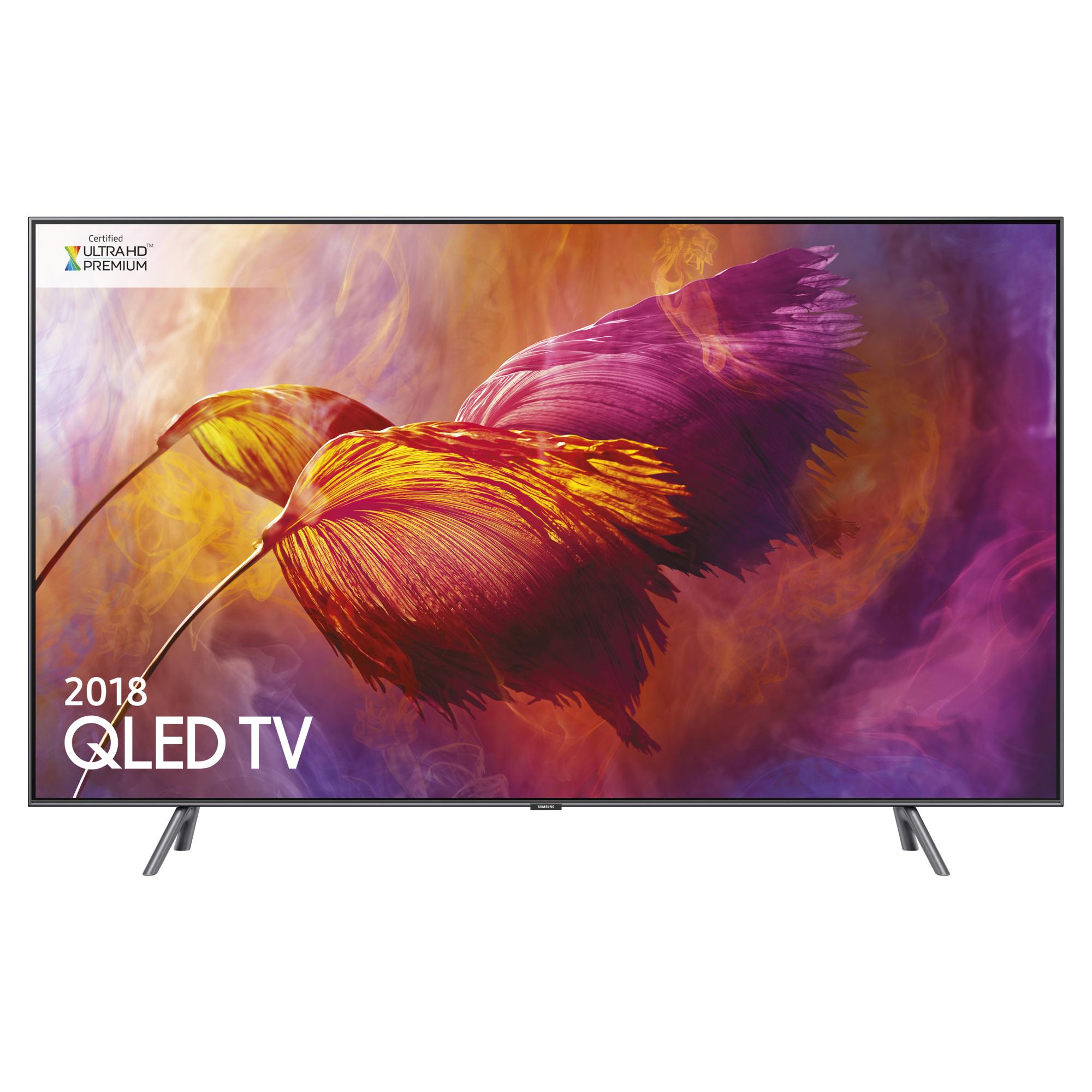 "Samsung QE55Q8DN (2018) QLED HDR 1500 4K Ultra HD Smart TV, 55"" with TVPlus/Freesat HD & 360 Design, Ultra HD Premium Certified,"