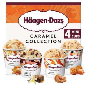 Haagen Dazs Caramel Ice Cream Collection Minicups 4 x 95ml £3 @ Ocado