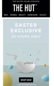 Extra 20% off at The Hut outlet today only 22/04