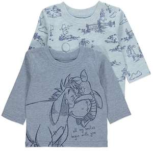 X2 Disney Winnie the Pooh Tops, Ages Upto 12 months Now £4 @ Asda ( Free C&C )