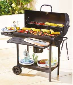 Oil Drum Charcoal Barbeque £49.99 @ Aldi Delivered
