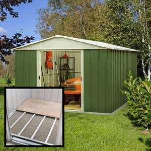 10' x 13' Yardmaster Green Metal Shed 1013GEYZ+ With Floor Support Kit (3.03m x 3.96m) - £534.99 @ Shedstore