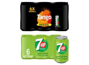 Tango Orange 6 X 330ml / 7 Up Diet 6 X 330ml for £1.59 @ Tesco (from 24/04)