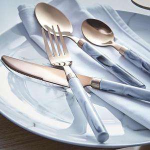 Marble and Copper Effect Cutlery Set 16 Piece £10 (was £15) free c&c @ Asda