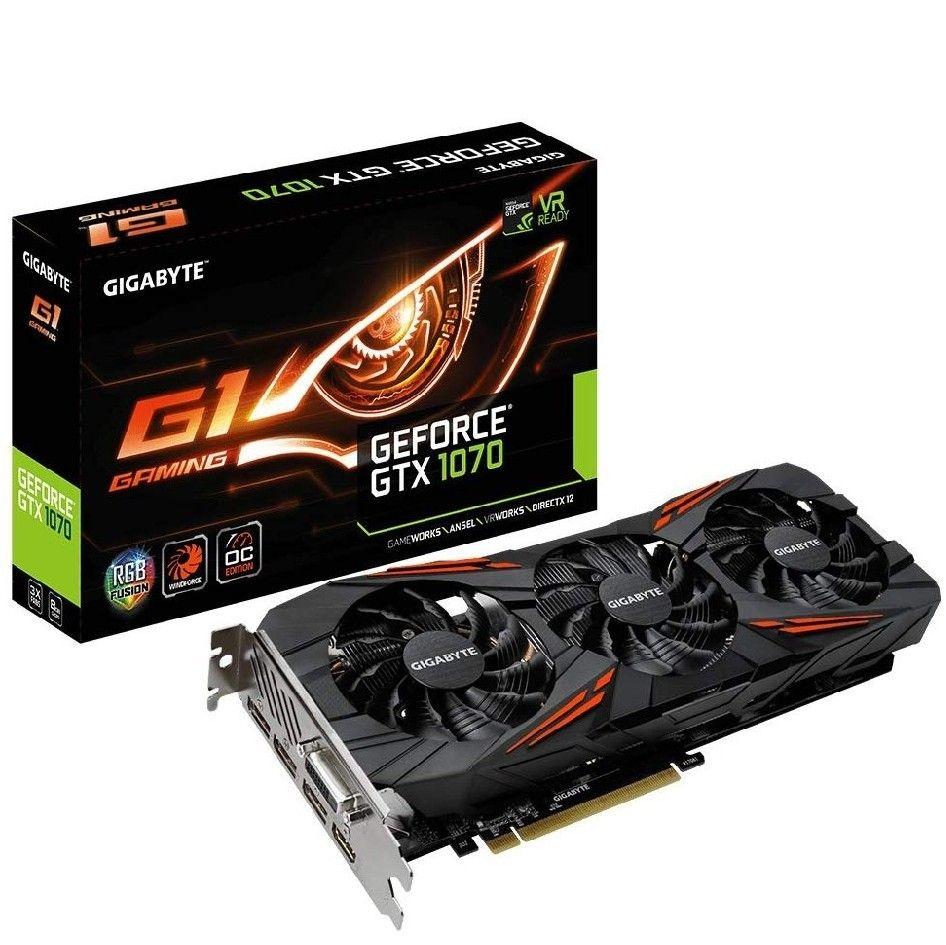Gigabyte Geforce GTX 1070 G1 Gaming GeForce GTX1070 Graphic Card 8192 MB £269.99 @ Amazon