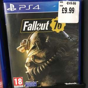 Fallout 76 (PS4 Only) £9.99 Instore HMV