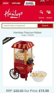 Hamleys Clearance & upto 50% off sale - Eg. Popcorn maker was £32 now £15 (P&P from £3.99 or free over £45)