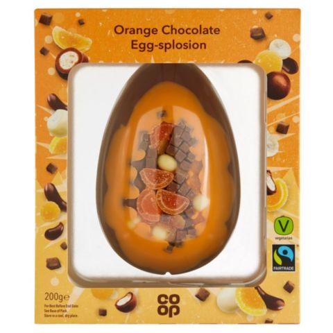 Coop Egg-Splosion Easter Eggs (Orange Chocolate/ Salted Caramel Brownie) - £2.50