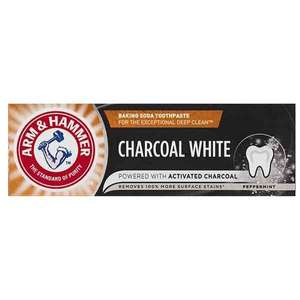 Arm & Hammer Charcoal White Natural Toothpaste 75Ml £1.50 @ Boots