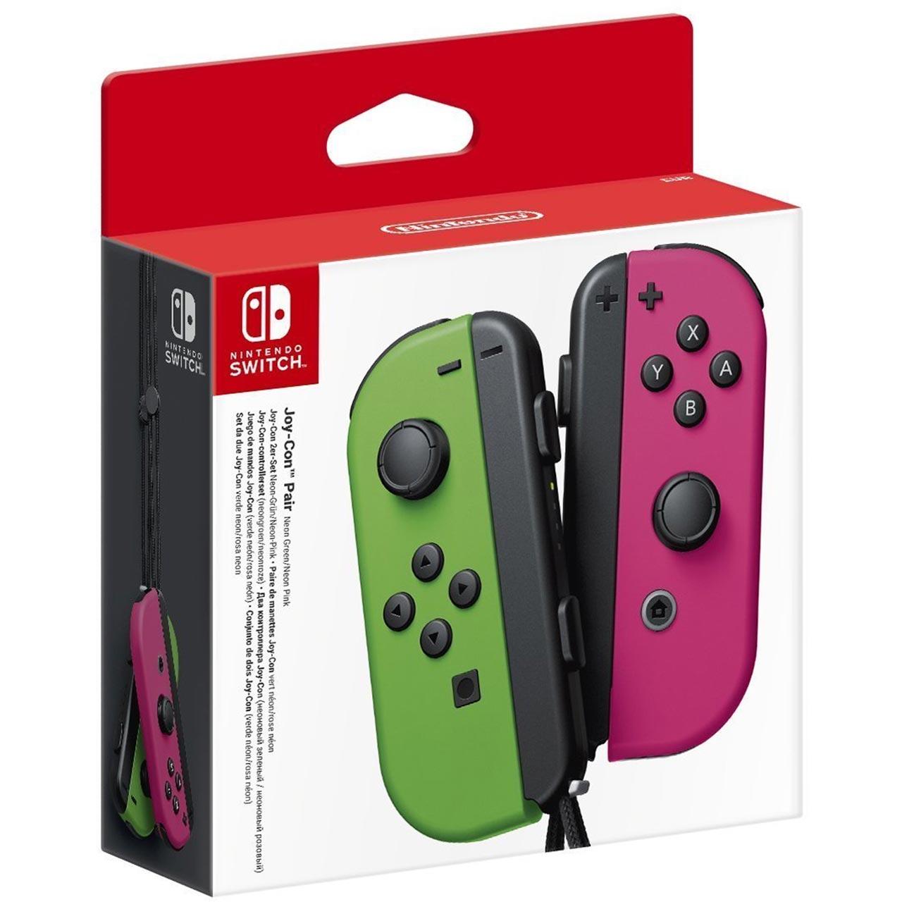 Nintendo Switch Joy-Con Controller Pair - Neon Green / Neon Pink £59 @ AO