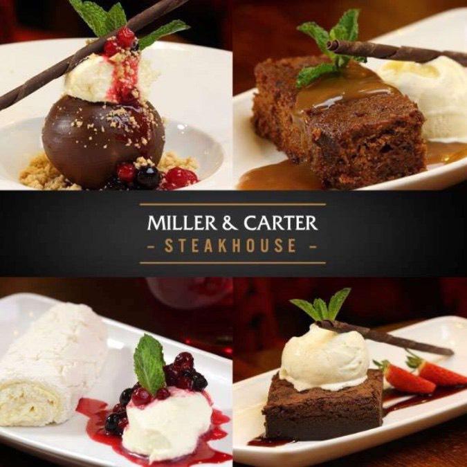 Free Starter or Dessert by downloading app @ Miller and Carter