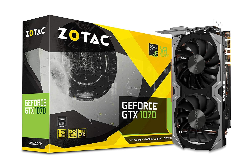 Zotac NVIDIA GeForce GTX 1070 8 GB Mini Graphics Card - Black £229.96 Amazon