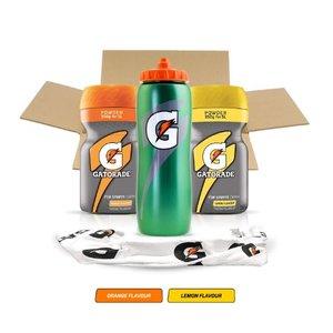 Gatorade Sports Drink Powder Lemon & Orange Pack of 2 x 350g + Contour Squeeze Bottle + Sports Towel £20 Del w/code - Sold by Luzern / FBA