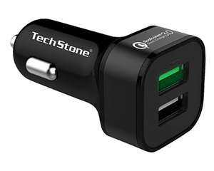 TechStone Car Charger Quick Charger 3.0 Dual USB Port Portable £4.49 Sold by TechStone Shop and Fulfilled by Amazon