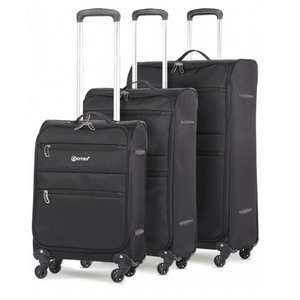 5 Cities Lightweight 4 Wheel Spinner Suitcases - 3 Piece Luggage Set (21″ + 26″ +29″) £54.99 delivered @ Travel Luggage Cabin Bags