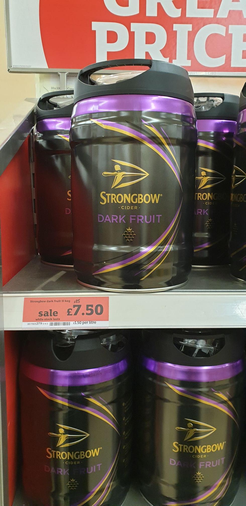 Strongbow Dark Fruits 5l keg - £7.50 @ Sainsburys