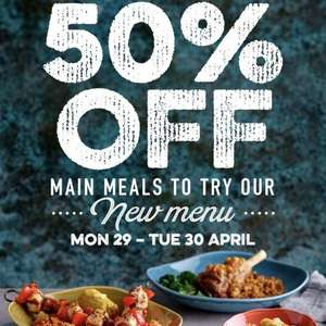 50% OFF Harvester Main Meals with Harvester VIP. New Menu!