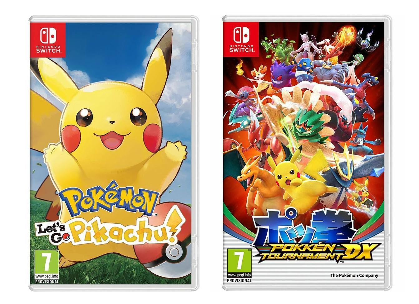Pokemon: Let's Go, Pikachu! - £32.39 or Pokken Tournament DX (Nintendo Switch) £34.19 delivered @ Currys eBay