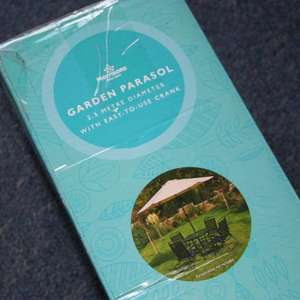 Garden Parasol 2.5m diameter in Morrisons instore - was £17 further reduced now £9