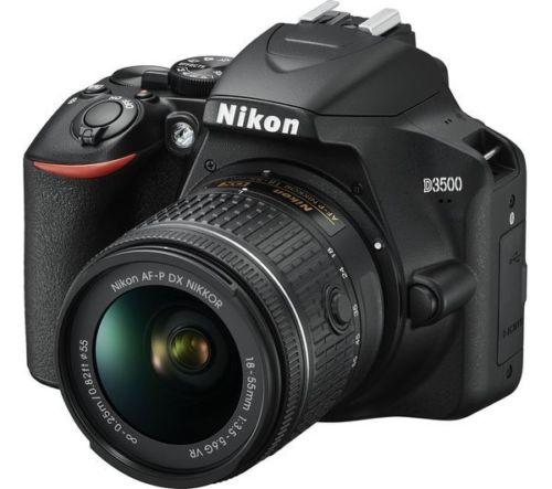 NIKON D3500 DSLR Camera with AF-P DX NIKKOR 18-55 mm VR Lens, £322.20 at Currys/ebay