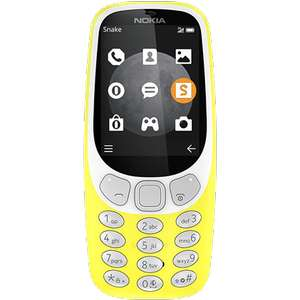 Nokia 3310 3G on Yellow, Warm Red and Charcoal with FREE next day delivery @O2 ( possible £5 via Quidco ) so could end up paying £15 for it