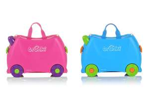 Trunki Children's Ride-On Suitcase & Kid's Hand Luggage (Pink / Blue) - £19.99 (Prime) / £24.48 (NonPrime)  Amazon (+5 year guarantee)