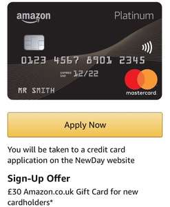 Free £30 Amzon Voucher with Amazon Credit Card if you sign up to a Amazon Platinum Mastercard