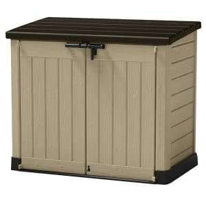 Keter Store It Out Max Plastic Garden & Wheelie Bin Storage Beige & Brown - approx 4 X 5 Ft (1200L) now £98 Delivered @ Wickes (Midi £85)