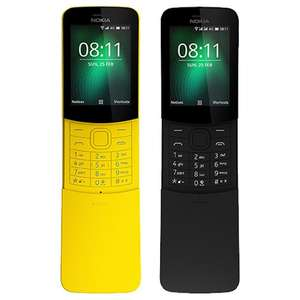 Nokia 8110 4G PAYG O2/EE UPGRADE (supports What's App)  £29.99 @ CarPhoneWarehouse