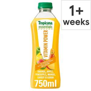Free Tropicana Essentials Juice 750ML with order at Tesco