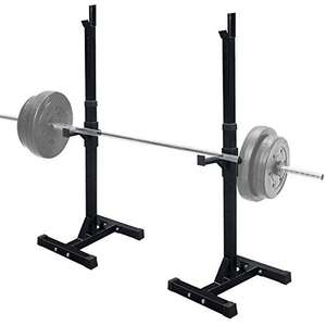 UK Fitness Squat Rack Heavy Duty Adjustable Pair of Power Squat Stands  £59.99 @ Amazon