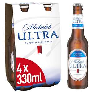 Michelob Ultra. Light beer 4x330ml - £1.75 @ Tesco