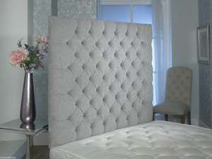 4ft small double Chesterfield wall headboard at Amazon for £2.99 (Add-on item)