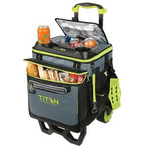 Titan 22.5 Li  tre (23.7 US Quart) 60 Can Rolling Cooler with All Terrain Cart. Costco membership required - £34.99