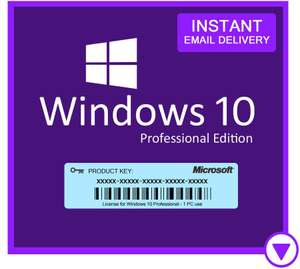 Windows 10 Professional 32/64 BIT Download (OEM) (Clean Install) £4.99 @ Electronic First